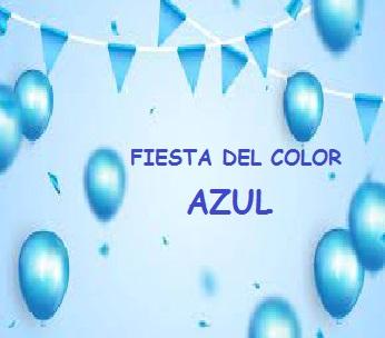 Fiesta del color azul jueves 11 de marzo de 2020